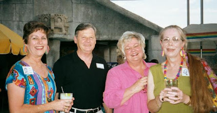 Photo: Carol (Craven) Barnes, Jim Williams, Pam (English) Williams, Carolyn (McGill) Hoelscher
