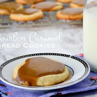 Salted Bourbon Caramel Shortbread Cookies