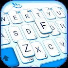 Simple White Blue Keyboard Theme icon