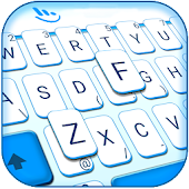 Simple White Blue Keyboard Theme Android APK Download Free By Love Cute Keyboard