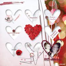 Photo: Heart Matters Template by Jen Maddocks Heart Matters by Jen Maddocks Fonts Viner Hand ITC and Ravie PS CS5