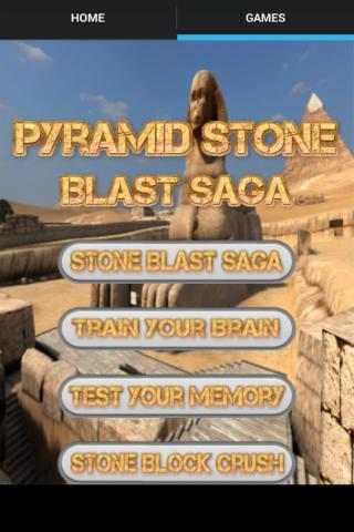 android Pyramid Stone Blast Saga Screenshot 0