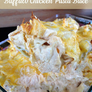 Buffalo Chicken Pasta Bake.