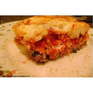 Bisquick Lasagna.