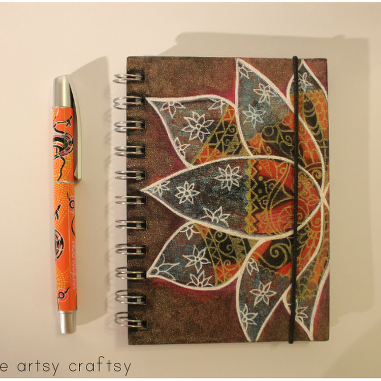 Grounding Lotus - A5 notebook by The Artsy Craftsy