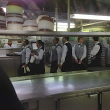 Photo: The waiters line up during dinner rush