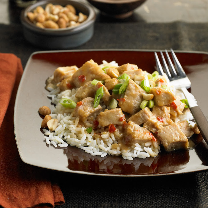 Slow cooked Thai Pork with Peanut Sauce