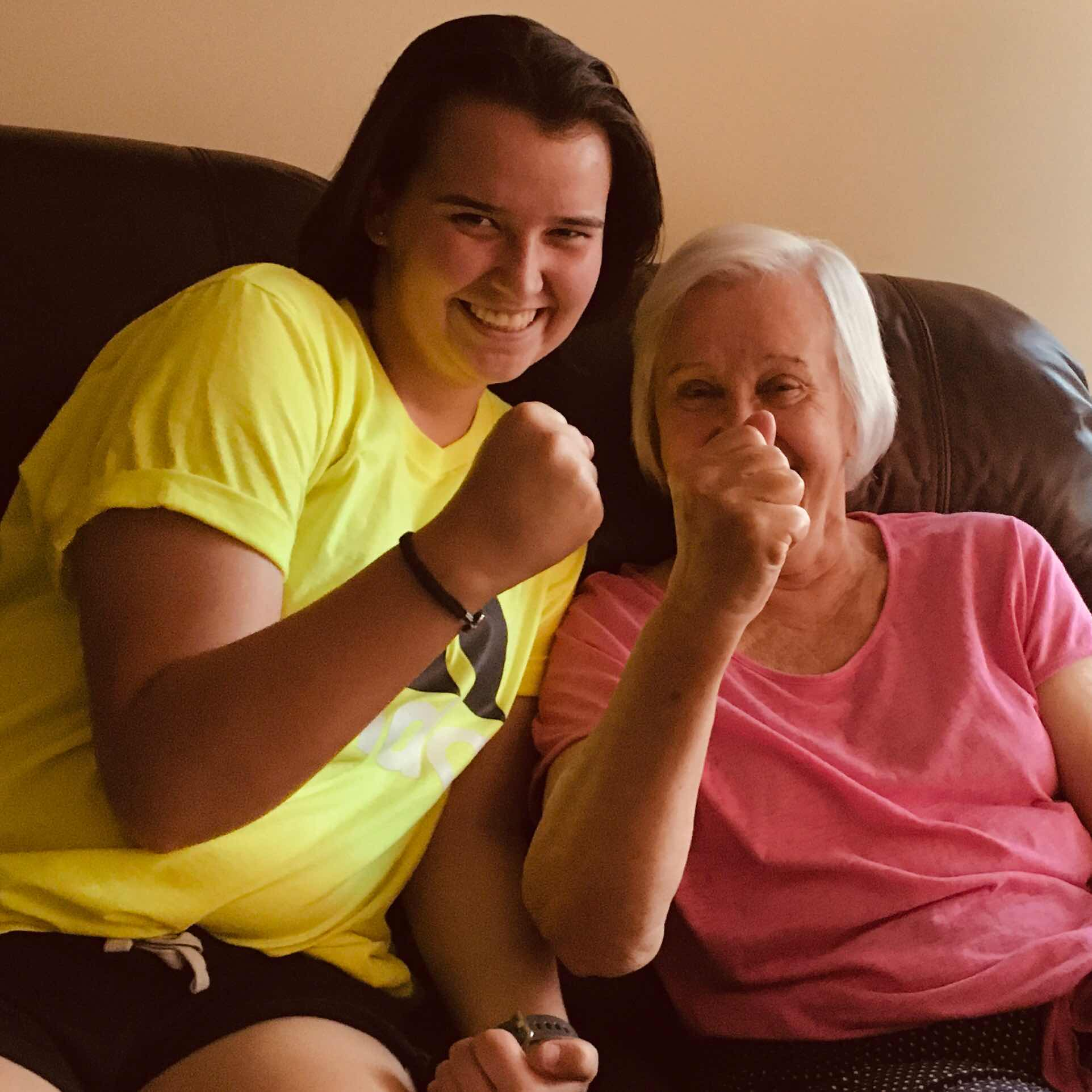 Charlotte and my mom, maybe fighting the power?
