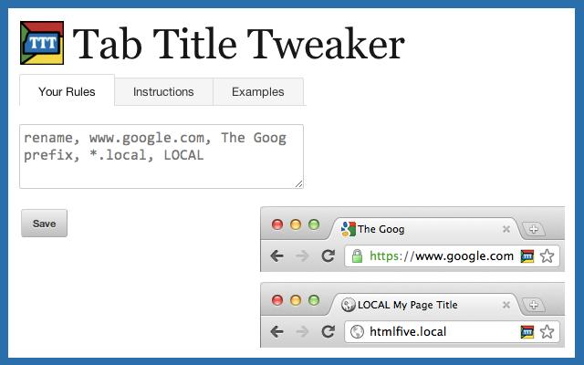 Tab Title Tweaker