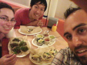 Photo: We went out for tacos (that's practically all we ate in Chiapas) with our new friend Hiroki, to bid him goodbye, as he was flying back to Seattle the following night.