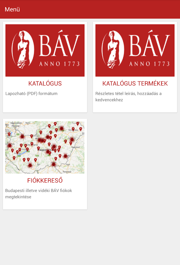 BÁV- screenshot