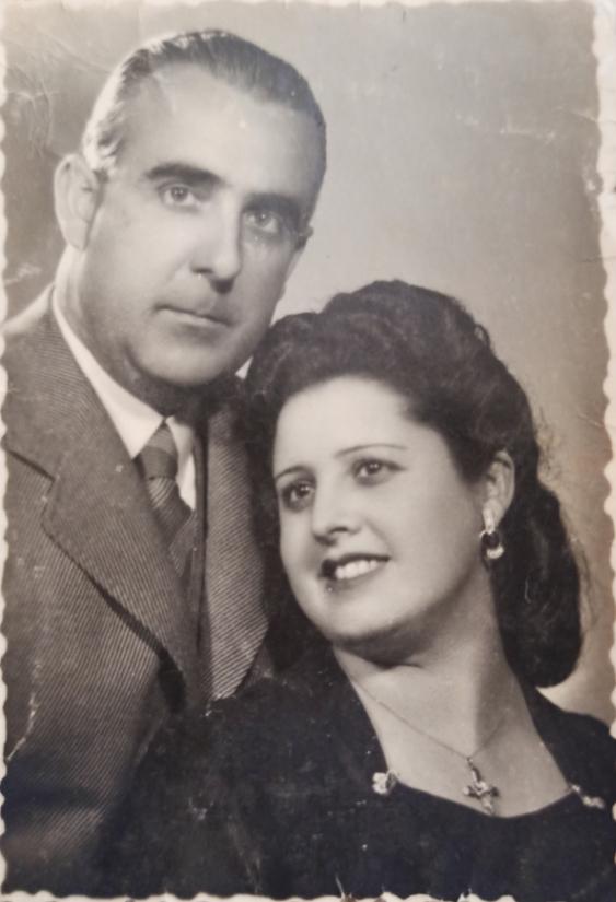 Juan y su esposa Francisca Cuadrado, hija de unos panaderos de la Plaza Pavía.