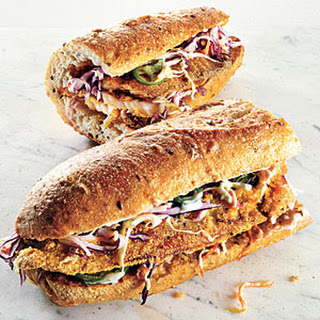 Cornmeal-Crusted Tilapia Sandwiches with Jicama Slaw