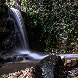 Falling Down by Iva Marinić - Landscapes Waterscapes ( nikon d, landscape photography, waterscape, nature, waterfall, natu, stones, water, trees, landscape,  )