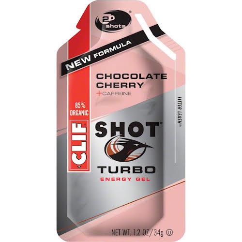 Clif Bar Clif Shot Chocolate Cherry Turbo w/ Caffeine - 24-Pack