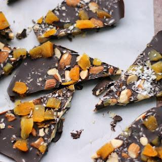 Dark Chocolate Bark with Apricots, Almonds, and Sea Salt
