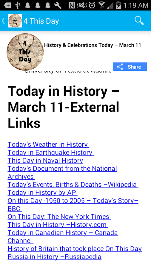 Today in History : Celebrations & History Today- screenshot