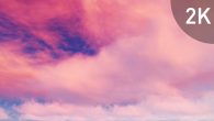 White Pink Cirrus Clouds on Violet Sky - 9