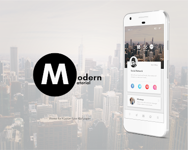 modern material theme for klwp apps on google play