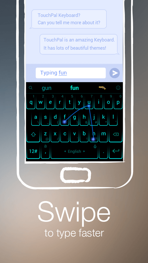 Screenshots of TouchPal Keyboard - Cute Emoji for iPhone