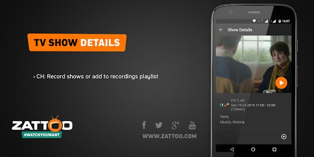 Zattoo TV App Live Television - screenshot thumbnail