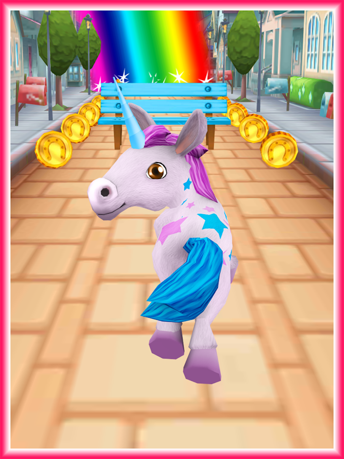 Unicorn Runner 3D - Horse Run- screenshot