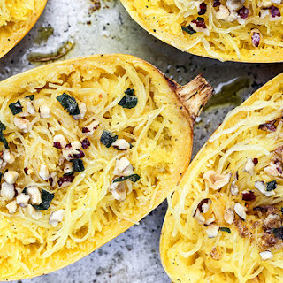 Roasted Spaghetti Squash with Browned Butter.