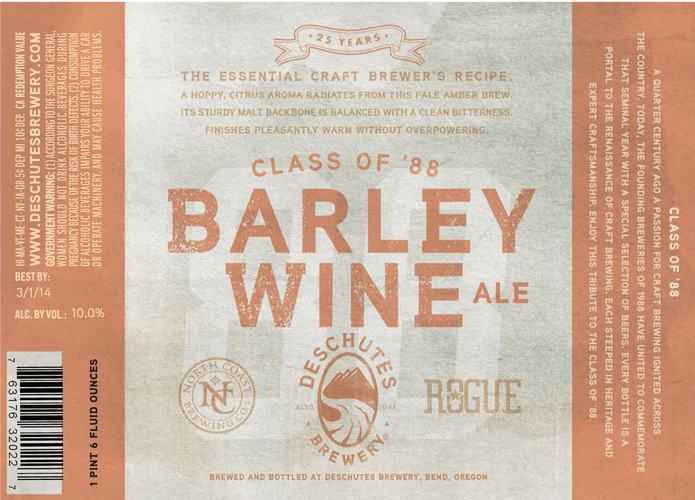 Logo of North Coast Class Of '88 Barleywine