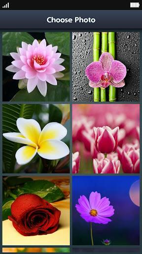Slide Puzzle - Flowers