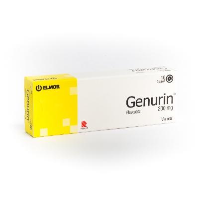 flavoxate clorhidrato genurin 200 mg x 10 grageas elmor 200 mg x 10 grageas