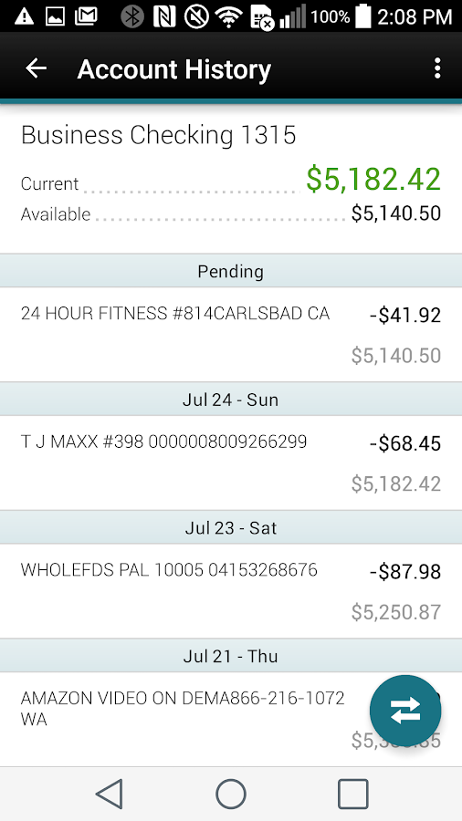 Pantex FCU Mobile App- screenshot