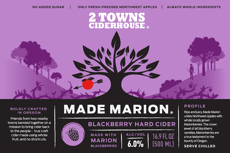 Logo of 2 Towns Ciderhouse - Made Marion