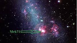 Imagen de Mrk 71, una nebulosa gigante en una imagen difundida por Calar Alto.