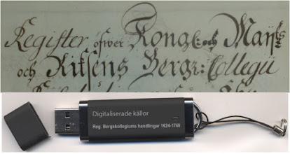 Photo: Digitaliserade alfabetiska reg. i färg t handl. i Riksarkivet, Bergkollegium o. de allra flesta, betydelsefulla ser. m reg. i varje volym/årgång från 1600-talet. https://docs.google.com/document/d/1aRBVJuOxSk0Tr3ZXuugORVtWuCUWHK0uzahXC3oVvYg/edit