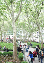 Photo: Bryant Park is full of people.