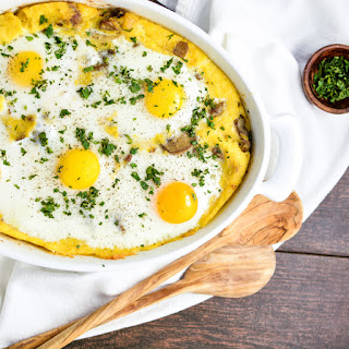 Sausage Polenta Breakfast Bake