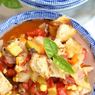 Summer CSA Slow Cooker Soup