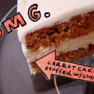 Cheesecake-Stuffed Carrot Cake Recipe from Rice Kernel