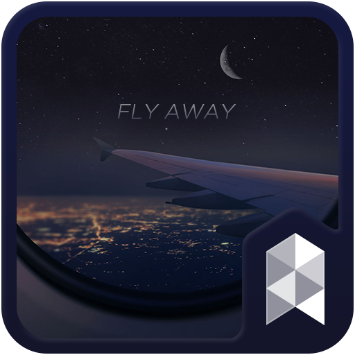 A night flight Launcher theme