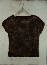 """Photo: Hair Shirt with Cap Sleeves, 30 x 22"""", collagraph"""