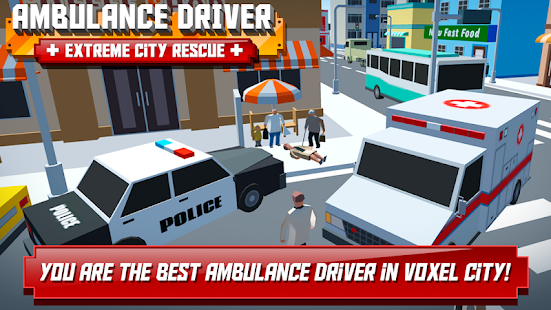 Ambulance Driver - Extreme city rescue Screenshot