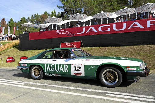 Putting the parts to the test with the Jaguar XJ-S V12 on the Simola hill.    Picture: MOTORPRESS