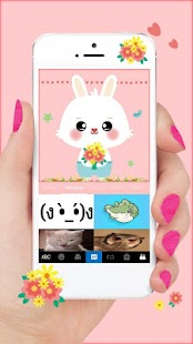 Pink Lovely Bunny Keyboard Theme - náhled
