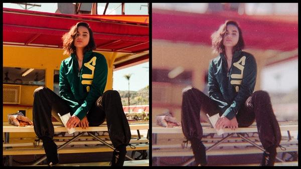 Antes e depois da edição de foto