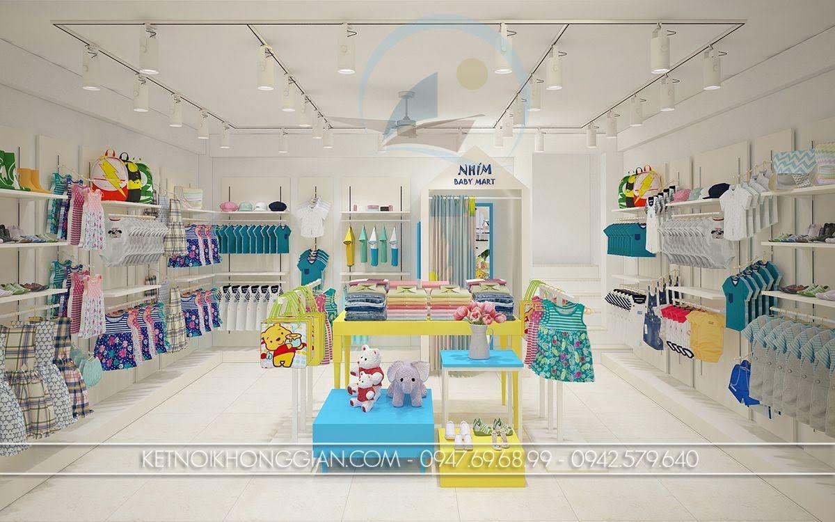 thiết kế shop thời trang mẹ và bé tinh tế