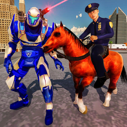 Russian Police Horse Robot Cop - Crime City Wars (game)