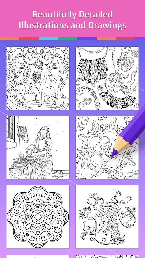 Adult Coloring Book Screenshot