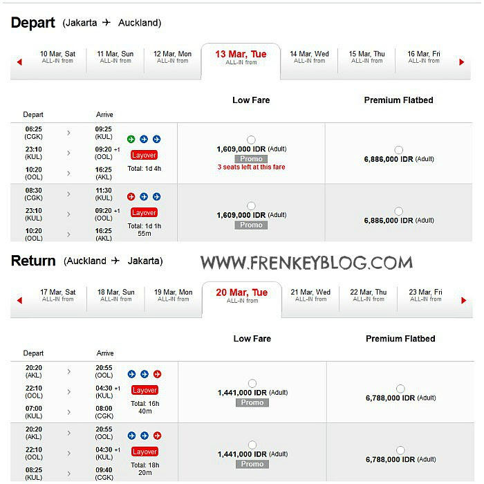 Harga Tiket Murah ke New Zealand