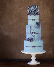 Photo: Blue and purple theme wedding cake by @sweet T & cake (8/29/2012) View cake details here: http://cakesdecor.com/cakes/26947