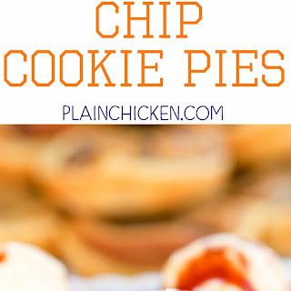 Deep Dish Chocolate Chip Cookie Pies